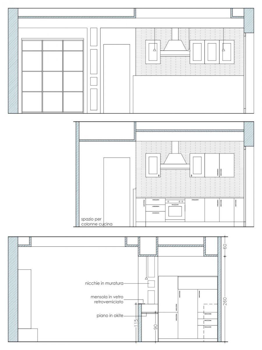 Cucina muratura progetto cucina in muratura completa - Progetto cucina muratura ...